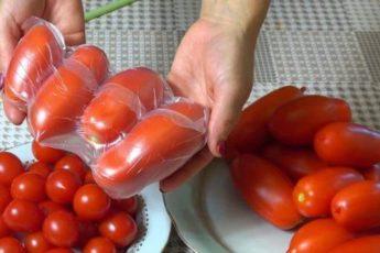 Классный и полезный совет, как хранить томаты свежими круглый год.