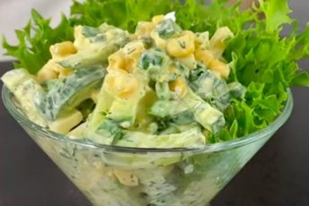 Интересный и вкусный весенний салат «Одесса» 1